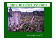Storia del Giardino d'Occidente - Facoltà di Lettere e Filosofia
