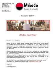 Newsletter 02/2011 Asiatica im Sommer - Mikado Asiatica