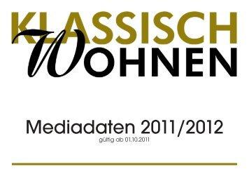 KLASSISCH WOHNEN - Mediadaten 2012 - BT Verlag GmbH