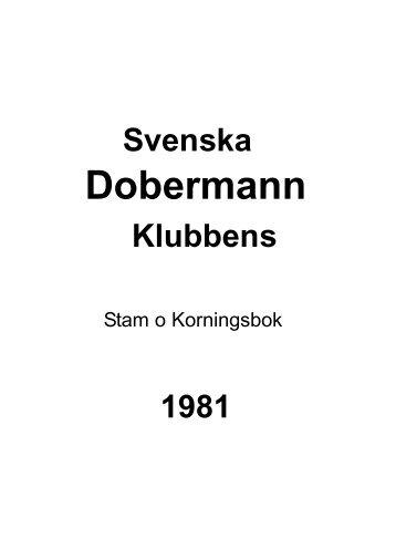 Stam - Svenska Dobermannklubben