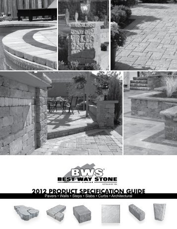 2012 PRODUCT SPECIFICATION GUIDE - Best Way Stone