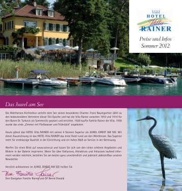 Download Prospekt - HOTEL Villa RAINER