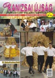 Új Kanizsai Újság - 2009. október 15-ei száma - Kanjiza