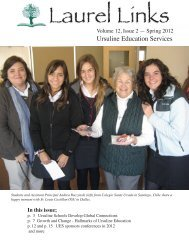 Laurel Links -- Spring 2012 - Ursuline Education Services