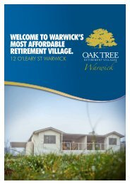 Welcome to WarWick's most affordable retirement village. - Oak Tree ...