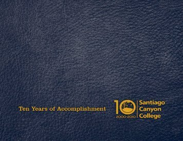 2009-10 SCC Annual Report - Santiago Canyon College