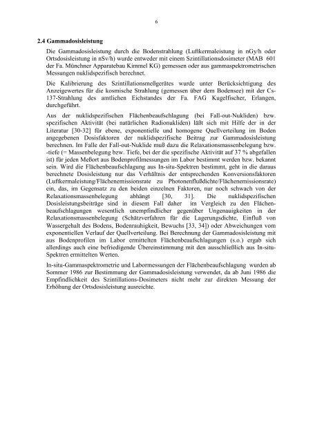 Auswirkungen von Tschernobyl in ER - FEN: Free-Net Erlangen ...