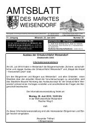 Ausbau der Ortsdurchfahrt Weisendorf - FEN