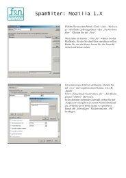 Spamfilter: Mozilla 1.X - FEN