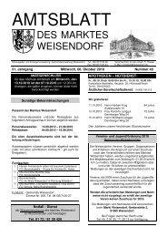 des Marktes Weisendorf - FEN