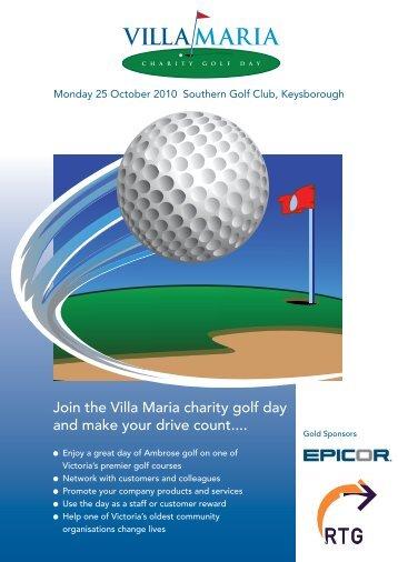 Villa Maria Charity Golf Day brochure