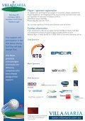 Villa Maria Charity Golf Day brochure - Page 4
