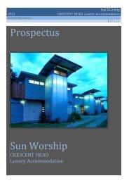 Prospectus Sun Worship - Crescent Head Investment Villas