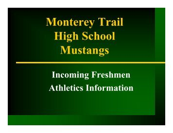 Monterey Trail Monterey Trail High School g Mustangs