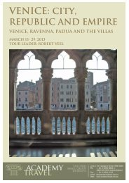 VENICE: CITY, REPUBLIC And EMPIRE - Academy Travel