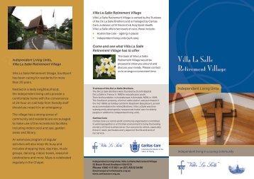 Villa La Salle Retirement Village - Caritas Care