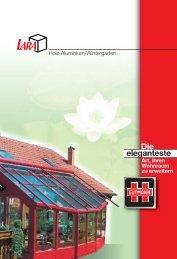 Holz-Aluminium-Wintergärten System Gutmann Lara