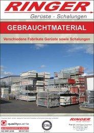 GEBRAUCHTMATERIAL - Ringer KG