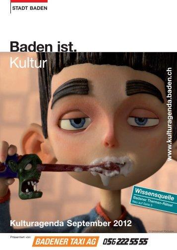 Kulturagenda September 2012 - Veranstaltungen - Baden