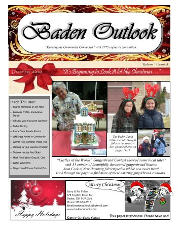Happy Holidays - The Baden Outlook