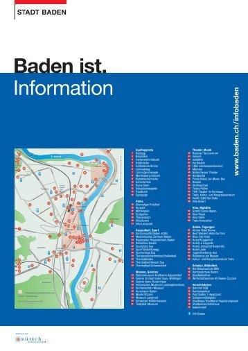 Baden ist. Information