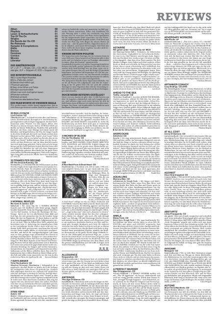 REVIEWS Webseite von Thomas Neumann