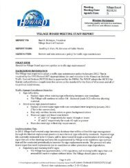 Meeting: Villa B r Meeting Date: 02 1 12 Agenda ... - Village of Howard