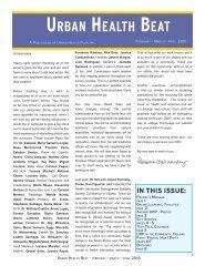 Urban Health Beat - Feb-Mar-April 2010 - Urban Health Plan
