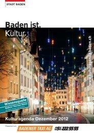 Kulturagenda Dezember 2012 - Veranstaltungen - Baden