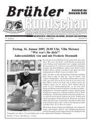 Freitag, 16. Januar 2009, 20.00 Uhr, Villa Meixner ... - Gemeinde Brühl
