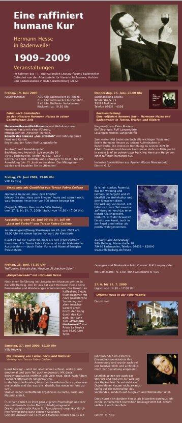 Eine raffiniert humane Kur 1909–2009 - Villa Hedwig