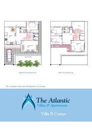 Download The Atlantic - Villa B - Corner Floor Plans - Villas