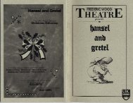 Acknowledgements - Theatre at UBC - University of British Columbia
