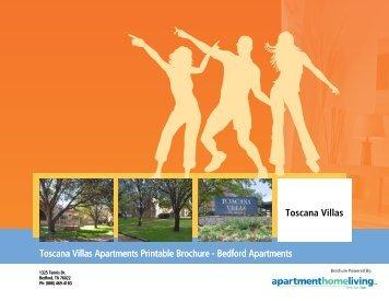Toscana Villas Apartments Printable Brochure - Apartments For Rent