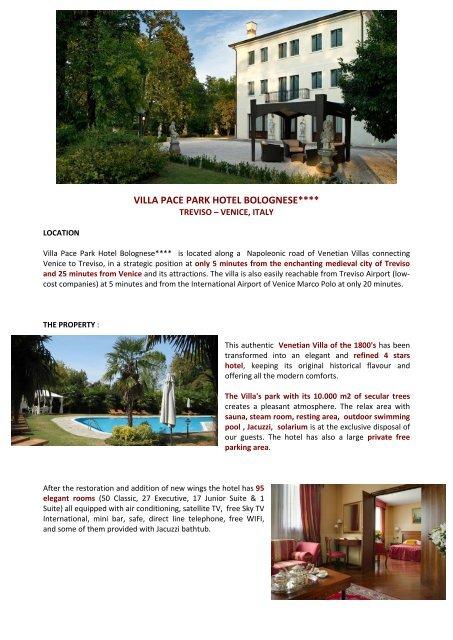 VILLA PACE PARK HOTEL BOLOGNESE**** - Eibtm com