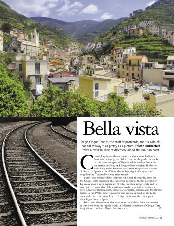 Italia! Magazine - Cinque Terre by train - Rutherford Tomasetti ...