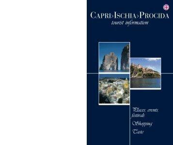 """Guide book """"Capri>Ischia>Procida Tourist Information"""" - COM-TUR"""