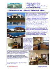 Property Details for Bella Vista, La Goleta, Faro Park