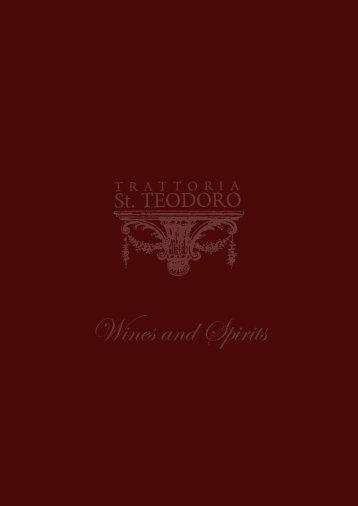 Wines and Spirits - St-teodoro