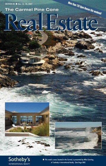 Carmel Pine Cone, December 7, 2007 (real estate) - The Carmel ...