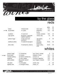 Download our Wine List (PDF) - Lolita's Restaurant & Bar