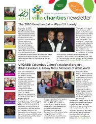 UPDATE: Columbus Centre's national project The ... - Villa Charities