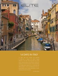 14 DAYS IN ITALY - Elite Traveler