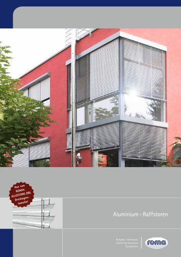 Aluminium - Raffstoren - Alku Bauelemente GmbH