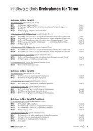 Inhaltsverzeichnis Drehrahmen für Türen - Fensterbau Schreck