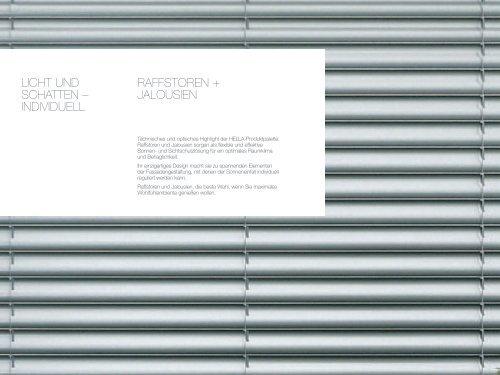 RAFFSTOREN+JALOUSIEN - Fensterbau Schreck