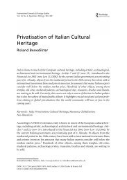 Privatisation of Italian Cultural Heritage - Rome – The Imperial Fora