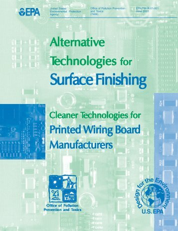 Alternative Technologies for Surface Finishing - US Environmental ...