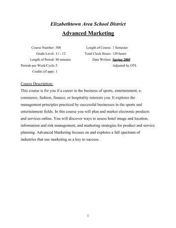 Advanced Marketing - Elizabethtown Area School District