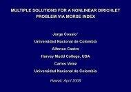 Multiple Solutions for a Nonlinear Dirichlet Problem via - Mathematics